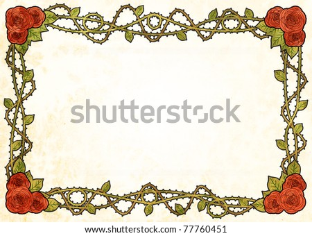 Art Deco Rose Frame Stock Illustration 77760451 - Shutterstock
