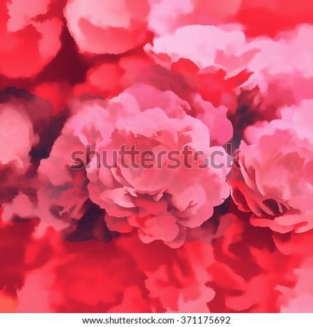 art flowers background - stock photo