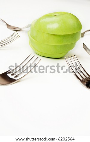 Art food background: lose weight, choice, competition - stock photo