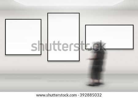 Art Gallery Background - stock photo