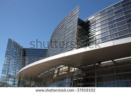 Art Gallery in Christchurch, Canterbury, New Zealand. Modern architecture. - stock photo