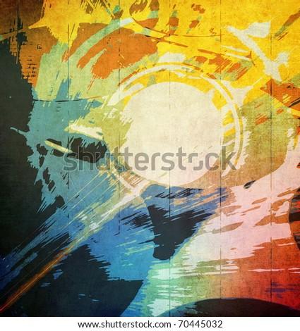 Art grunge background - stock photo