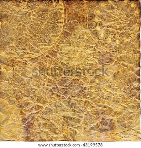 art grunge vintage paper textured background in beige and brown colors  - stock photo