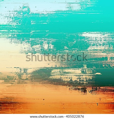 Art grungy texture, aged background with retro feeling. With different color patterns: yellow (beige); green; blue; red (orange); cyan - stock photo
