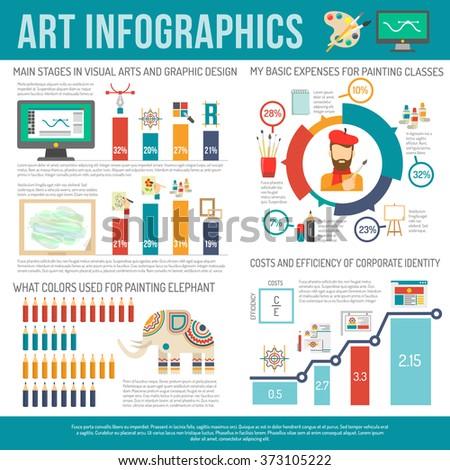 Art Infographics Set - stock photo