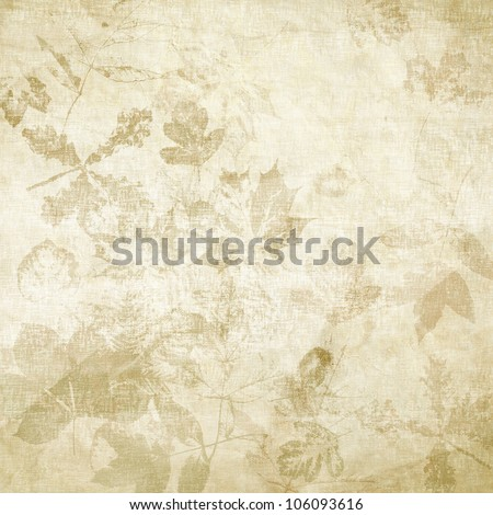 art leaves autumn background card - stock photo