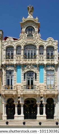 Art nouveau building in Aveiro, Portugal - stock photo