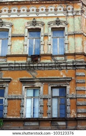 Art-Nouveau facade in Tbilisi Old town, Republic of Georgia
