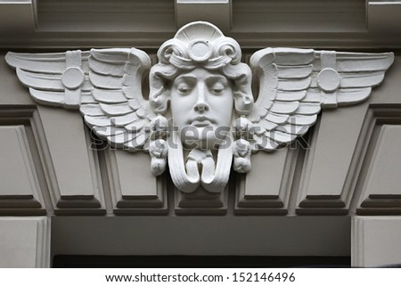 Art nouveau style in Riga - stock photo