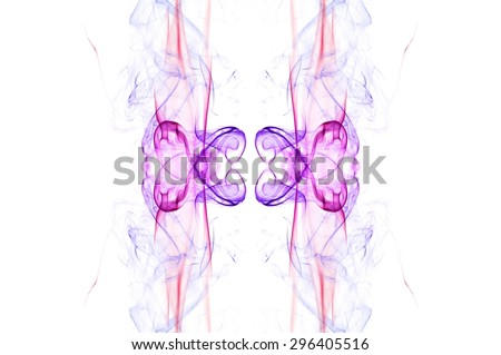 art of color smoke on white background, smoke background,colorful ink background,red, Blue,beautiful color smoke