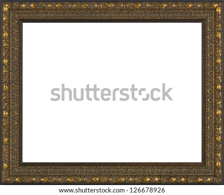 art picture frame golden - stock photo