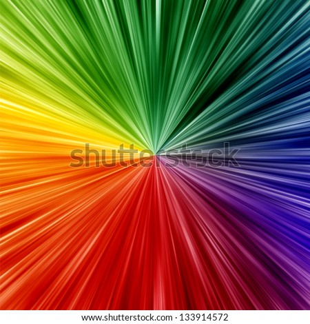Art rainbow colors abstract zoom background - stock photo