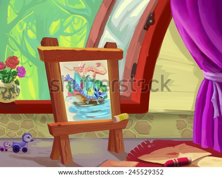 Art room - Illustration for children