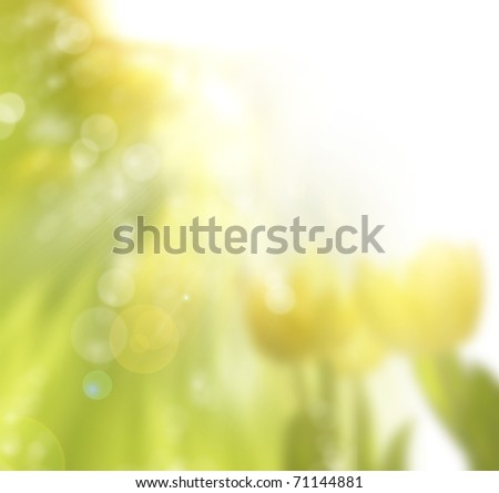 art spring background - stock photo