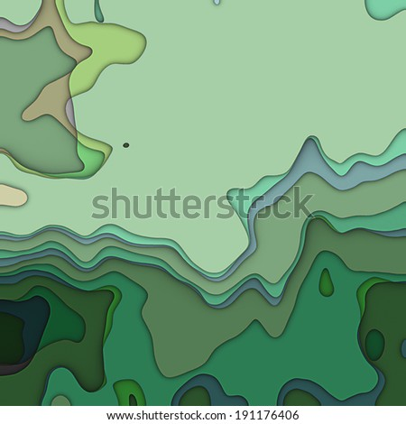 art transparency waves pattern monochrome background in green colors