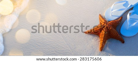 art Untouched tropical beach background - stock photo