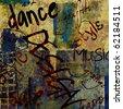 art urban graffiti raster background for design - stock vector