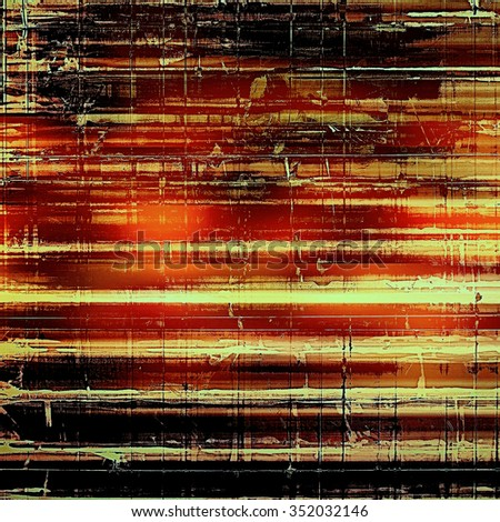 Art vintage background with space for text and different color patterns: yellow (beige); brown; red (orange); black - stock photo