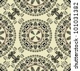 art vintage geometric ornamental pattern in black graphic - stock photo