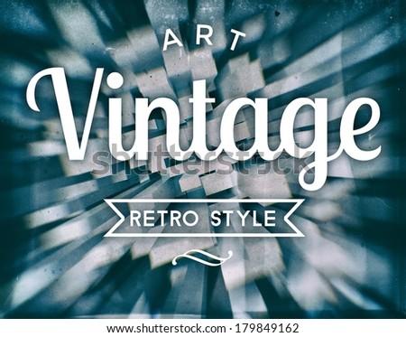Art vintage retro style conceptual poster - stock photo