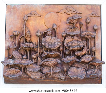 art wall of thailand - stock photo