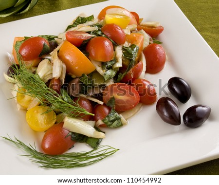 Artichoke fennel salad - stock photo