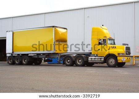 Articulated semi truck - stock photo