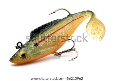 artificial angler bait - stock photo