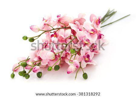 artificial flowers - stock photo