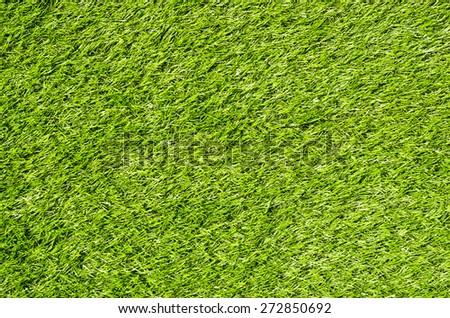 Artificial Green Grass Field Top View Texture - stock photo