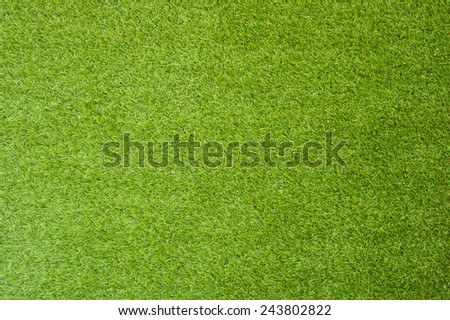 Artificial green grass for text and background - stock photo