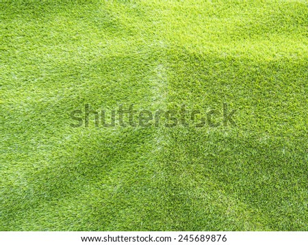 artificial green grass texture background, use in outdoor and indoor - stock photo