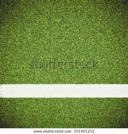 Artificial green grass with sport line