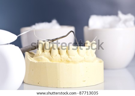 artificial jaw - stock photo