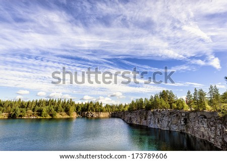 Artificial Lake in Ylivieska, Finland