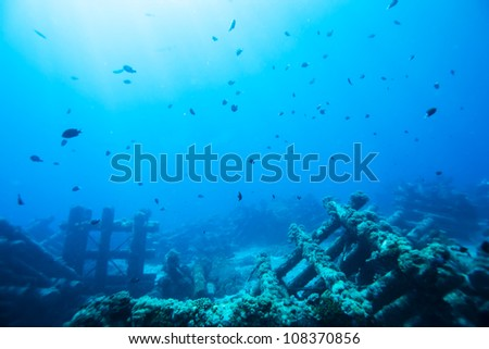 artificial reef - stock photo