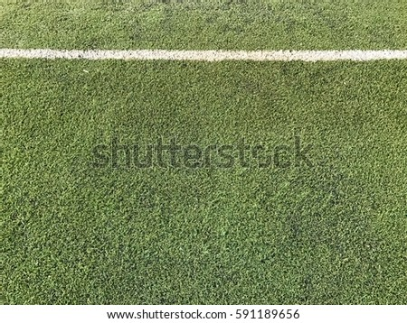 Artificial soccer field