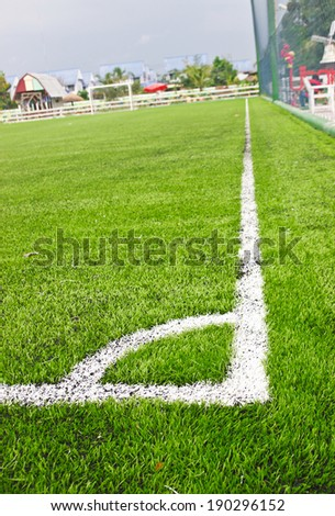 Artificial turf ,Football field  - stock photo