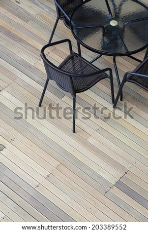 artificial wood deck texture background - stock photo