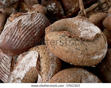 Artisanal bread at farmers' market - stock photo