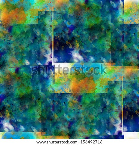 artist art background seamless yellow, blue bright watercolor