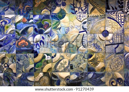 artist background as chinese style on the wall - stock photo
