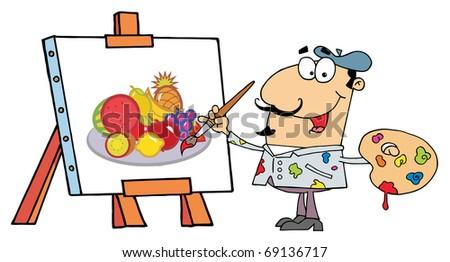 Artist Painter - stock photo