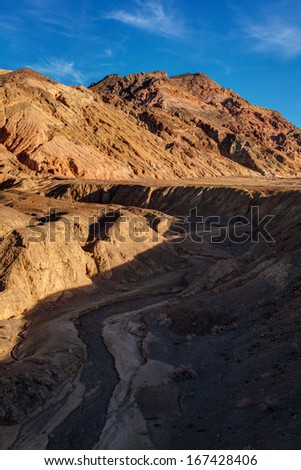 Artist Palette Death Valley National Park California  - stock photo