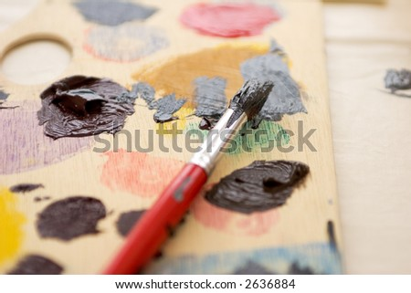 Artist Pallette - stock photo