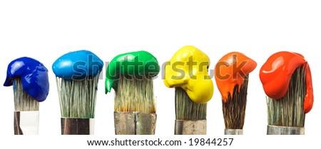 Artist's brushes - stock photo