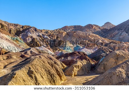 Artist's Drive Death Valley National Park - stock photo