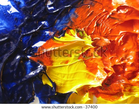 artist's oil paint - stock photo