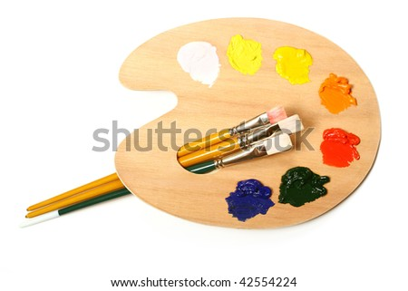 Artist's palette. - stock photo