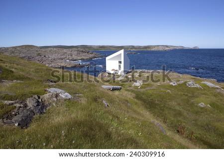 Artist studio on remote Fogo Island, Newfoundland, Canada - stock photo